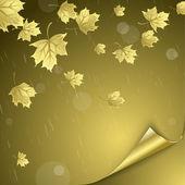 Vecteur fond sur un thème de l'automne — Vecteur