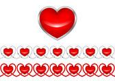 Patrón de corazones. el dibujo vectorial. — Vector de stock