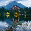 Hotel near the lake — Stock Photo