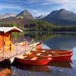Beautiful boat on the lake — Foto de Stock