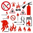 Icons fire — Stock Vector
