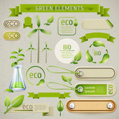 Set of eco elements — Stock Vector