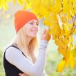 Girl in the autumn park — Stock Photo #31596801
