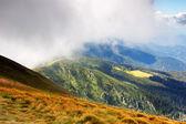 Wolke in bergen — Stockfoto