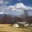 Camping in the mountains in spring — Stock Photo #43057885