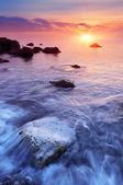 Solnedgång vid havet — Stockfoto