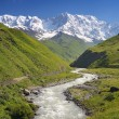 Shkhara mountain in the Caucasus — Stock Photo