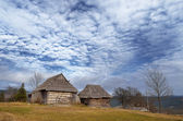 Dilapidated wooden houses — Стоковое фото