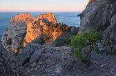 Piękny wschód słońca na morzem — Zdjęcie stockowe
