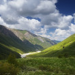 River in a mountain valley — Stock Photo