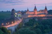 Old fortress with illumination  — Stock Photo