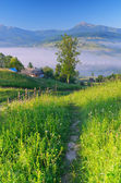Trail in the mountain village  — Stock Photo