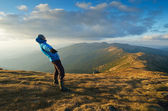 Strong winds in the mountains  — Stock Photo