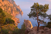 Evening in the mountains near the sea  — Стоковое фото