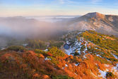 First snow in mountains  — Stock Photo