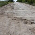 Broken road in Ukraine, Odessa region, 2012, July — Stock Photo #11798868
