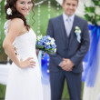 Beautiful wedding couple — Stock Photo #12437824