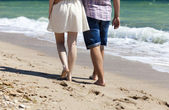 Couple at the beach. — Stock Photo