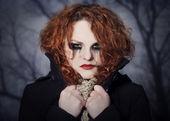 Portret smutny rudy. — Zdjęcie stockowe