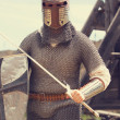 Stock Photo: Knight. Photo in vintage style