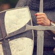 Knight. Photo in vintage style — Stock Photo #26311805