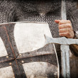Knight. Photo in vintage style — Stock Photo