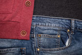 Jeans pocket for background — Stock Photo