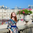Stock Photo: Redhead girl near Luxembourg Palace