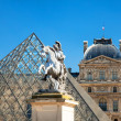 Louvre pyramid in Paris — Stock Photo