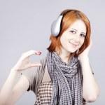 Girl with modern headphones. — Stock Photo #3464569