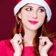 Womportrait with christmas earnings — Stockfoto #34664029