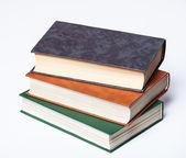 孤立在白色的老书 — 图库照片