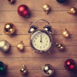 Christmas clock — Stock Photo