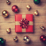 Christmas gift. — Stock Photo