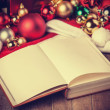 Book and christmas gifts — Stok fotoğraf
