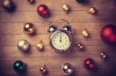 Christmas clock — Stock Photo