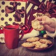 Cookies, cup of coffee — Stock Photo