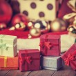 Little gifts at christmas — Stock Photo