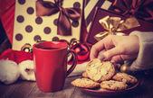 Cookies, cup of coffee — Stock fotografie