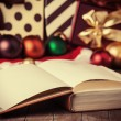 Book and christmas gifts — Stock Photo #35731949