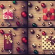 Collage of gifts. — Foto de Stock