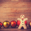 Cookie with christmas toys — Stockfoto