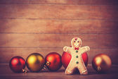 Cookie with christmas toys — Foto Stock
