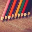 Color pencils. — Stockfoto
