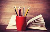 Barevný tužky. — Stock fotografie