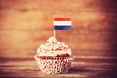 Cake with Netherland flag. — Stock Photo
