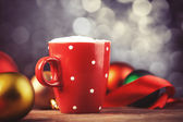 Cup of coffee with gifts. — Stock Photo