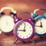 Retro alarm clocks on a table. — Stock Photo #38249457