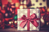 Christmas gifts. Photo in vintage style. — Zdjęcie stockowe