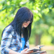 Teen girl in the park. — Stock Photo